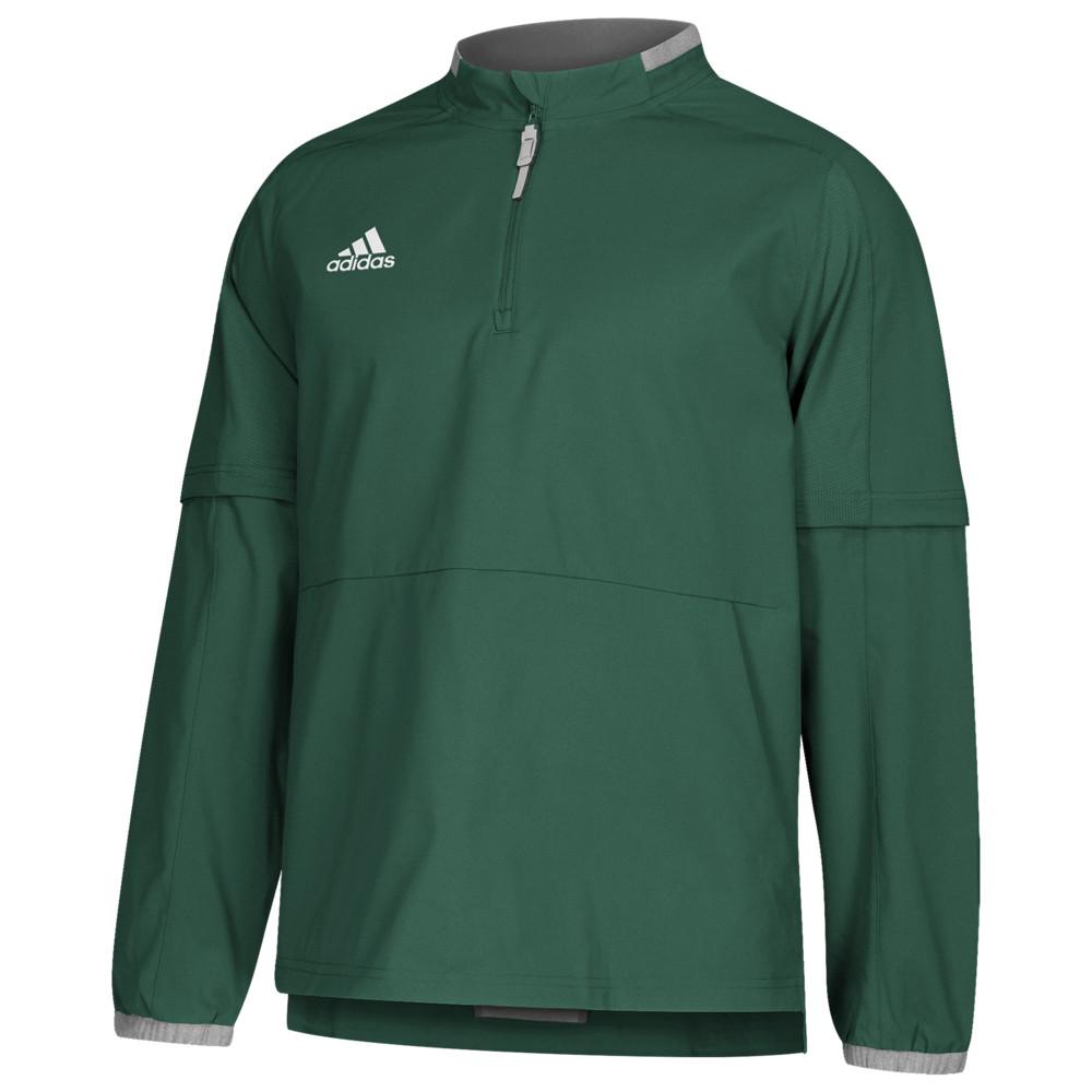 アディダス adidas メンズ 野球 ジャケット アウター【Fielder's Choice 2.0 Covertible Jacket】Dark Green/Core Heather