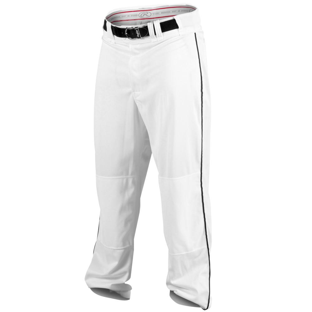 ローリングス Rawlings メンズ 野球 ボトムス・パンツ【Ace Relaxed Fit Piped Pants】White/Black
