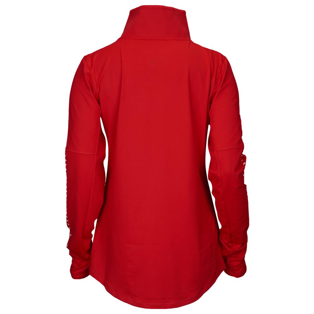 アンダーアーマー Under Armour レディース フィットネス・トレーニング ハーフジップ トップス【Team Knit 1/2 Zip】Red/White