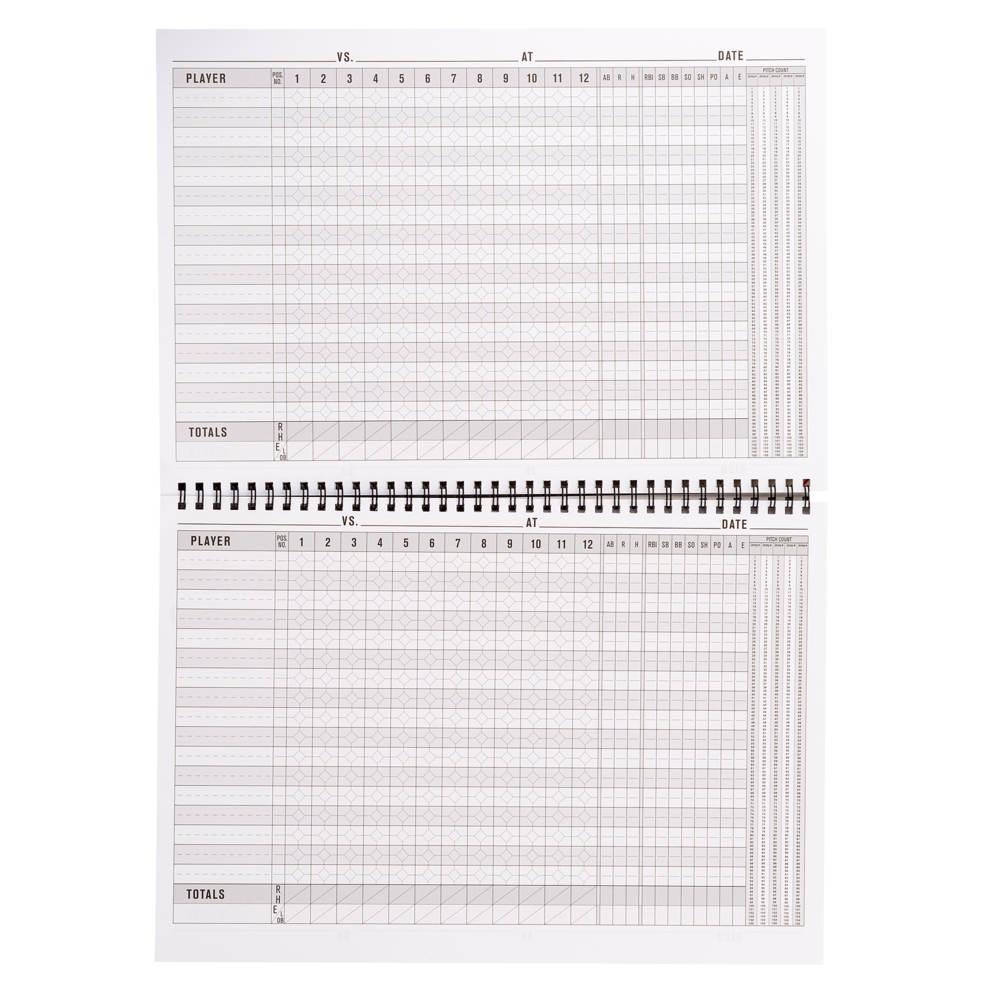 ウィルソン ユニセックス 野球 新作通販 その他野球用品 Games per Book Baseball サイズ交換無料 Wilson 倉 Spiral Softball スコアブック Scorebook