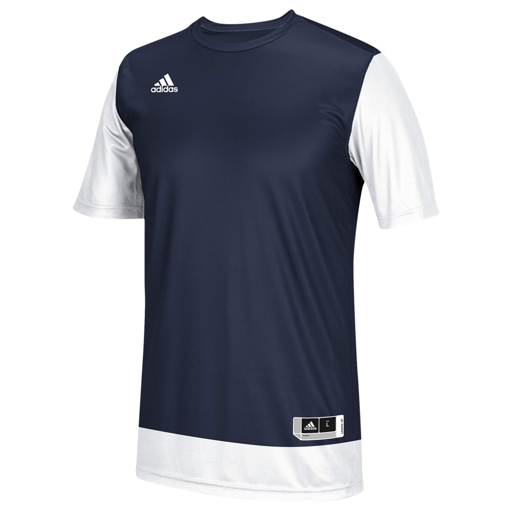 アディダス adidas メンズ バスケットボール トップス【Team Crazy Explosive Shooting Shirt】Collegiate Navy/White