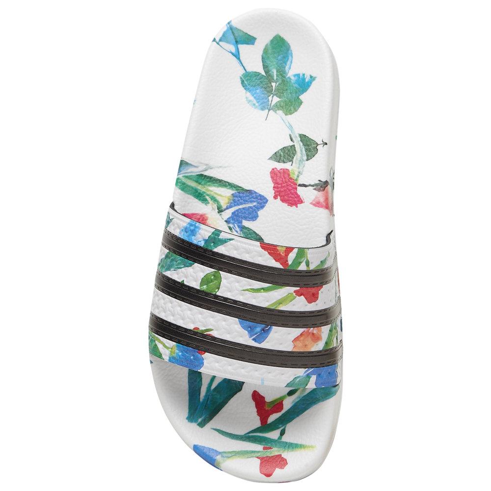 アディダス adidas レディース サンダル・ミュール シューズ・靴【Adilette Slide】White/Core Black/White Flower Pack