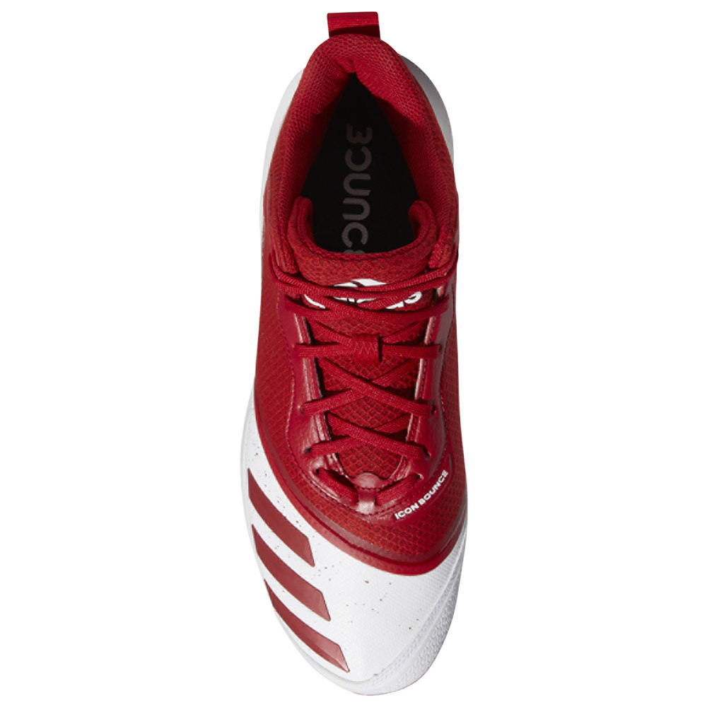アディダス adidas メンズ 野球 シューズ・靴【Icon V Bounce Mid】White/Power Red/Power Red
