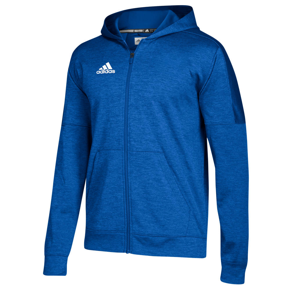 アディダス adidas メンズ フィットネス・トレーニング パーカー トップス【Team Issue Fleece Full Zip Hoodie】Collegiate Royal/White