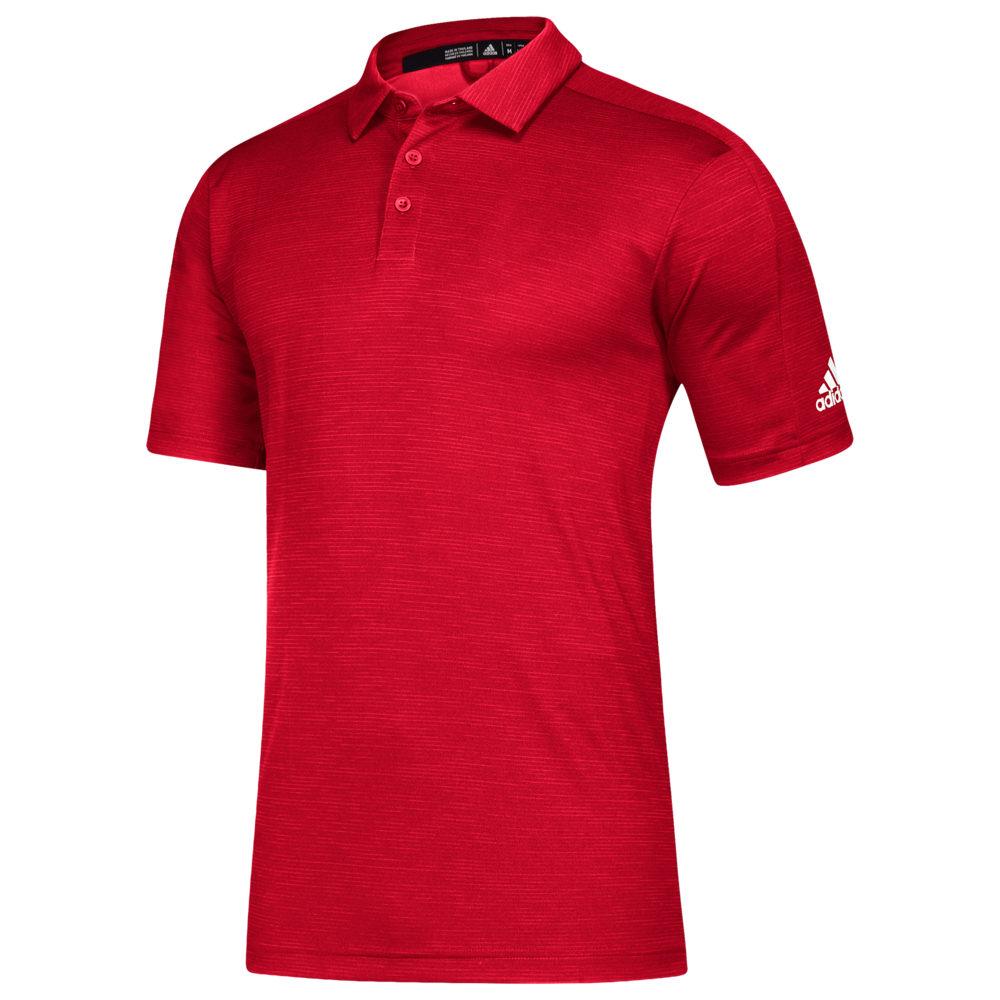 アディダス adidas メンズ フィットネス・トレーニング トップス【Team Game Mode Polo】Power Red Melange/White