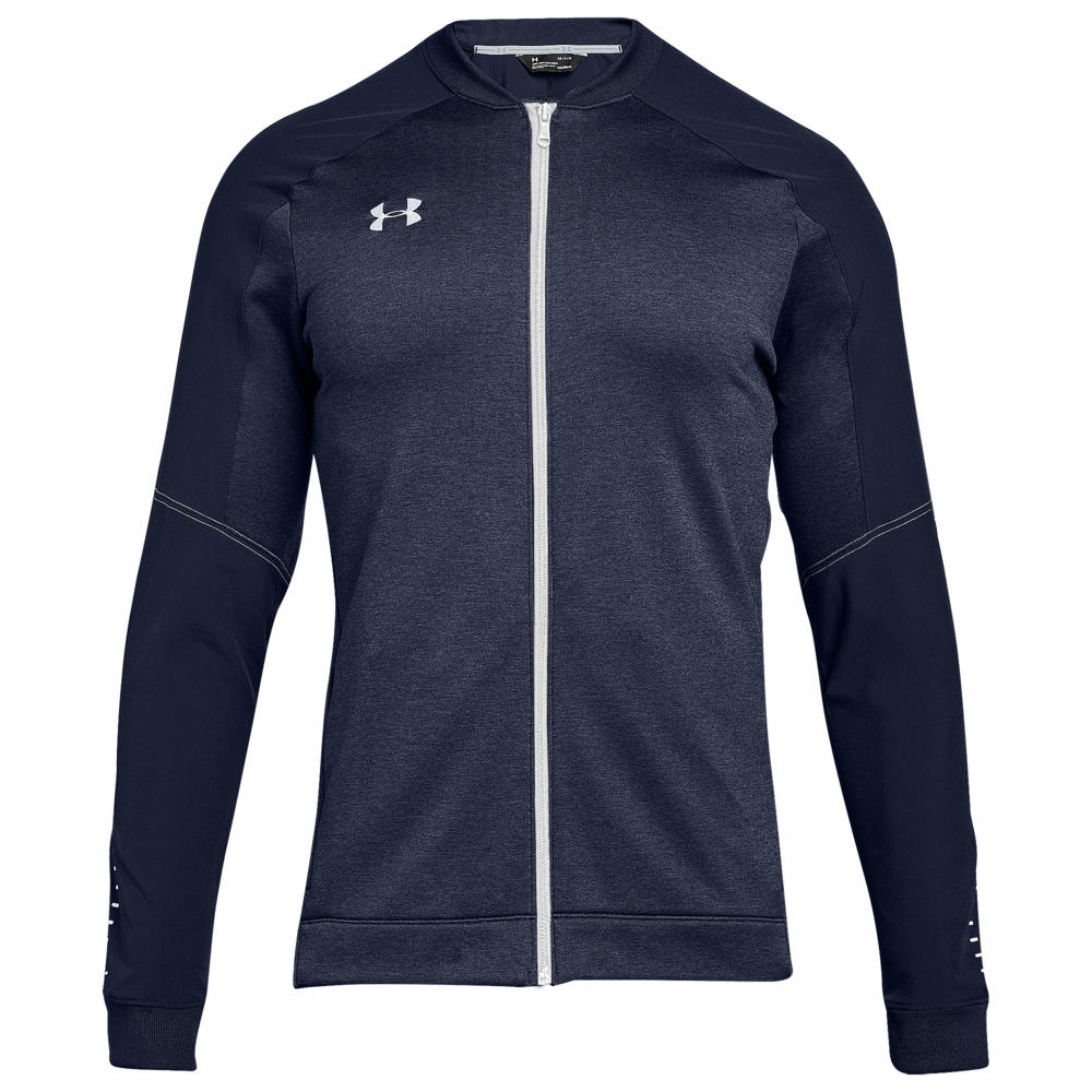 アンダーアーマー Under Armour メンズ フィットネス・トレーニング ジャケット アウター【Team Qualifier Hybrid Warm-Up Jacket】Midnight Navy/White