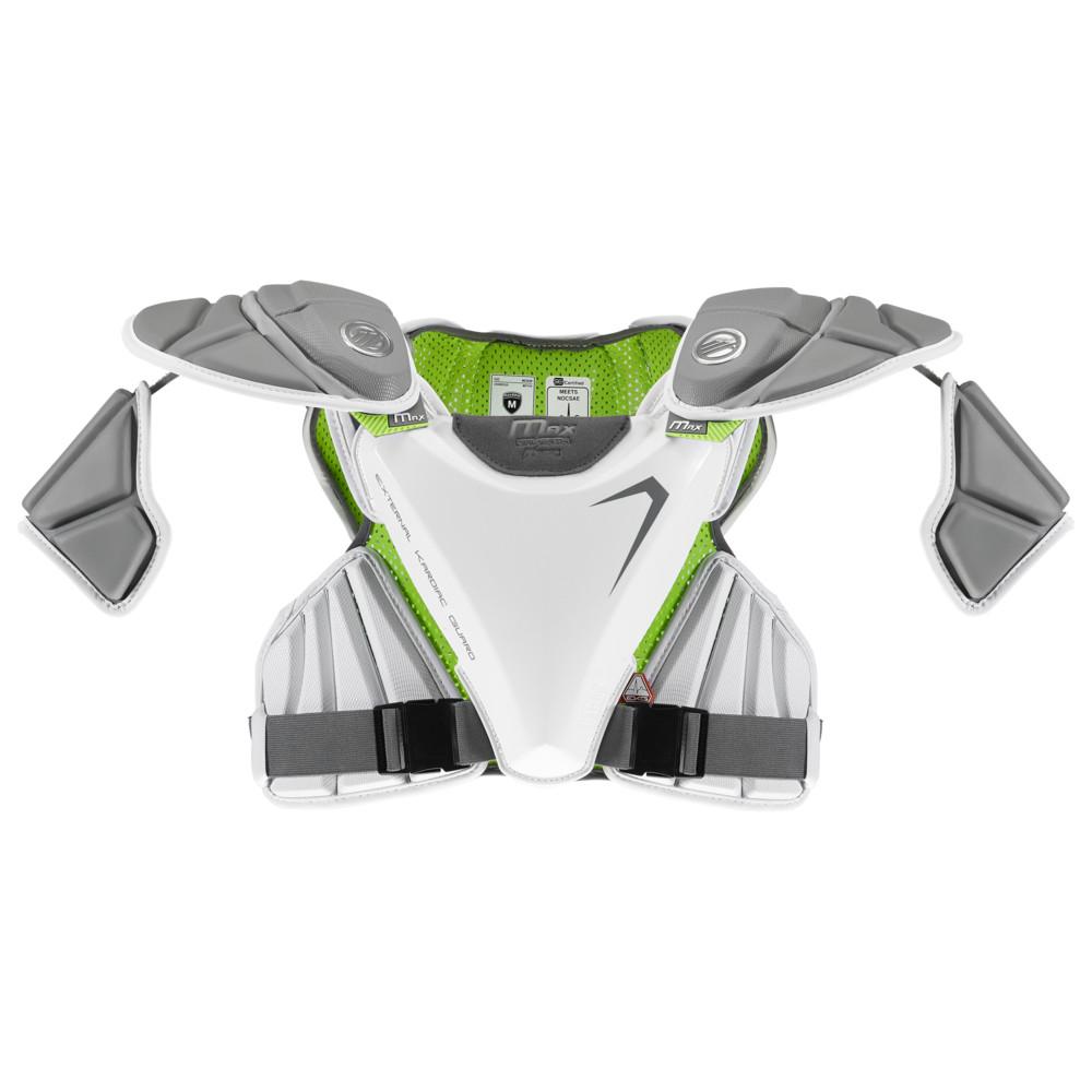 マーヴェリック Maverik Lacrosse メンズ ラクロス プロテクター【Max EKG Shoulder Pad】White
