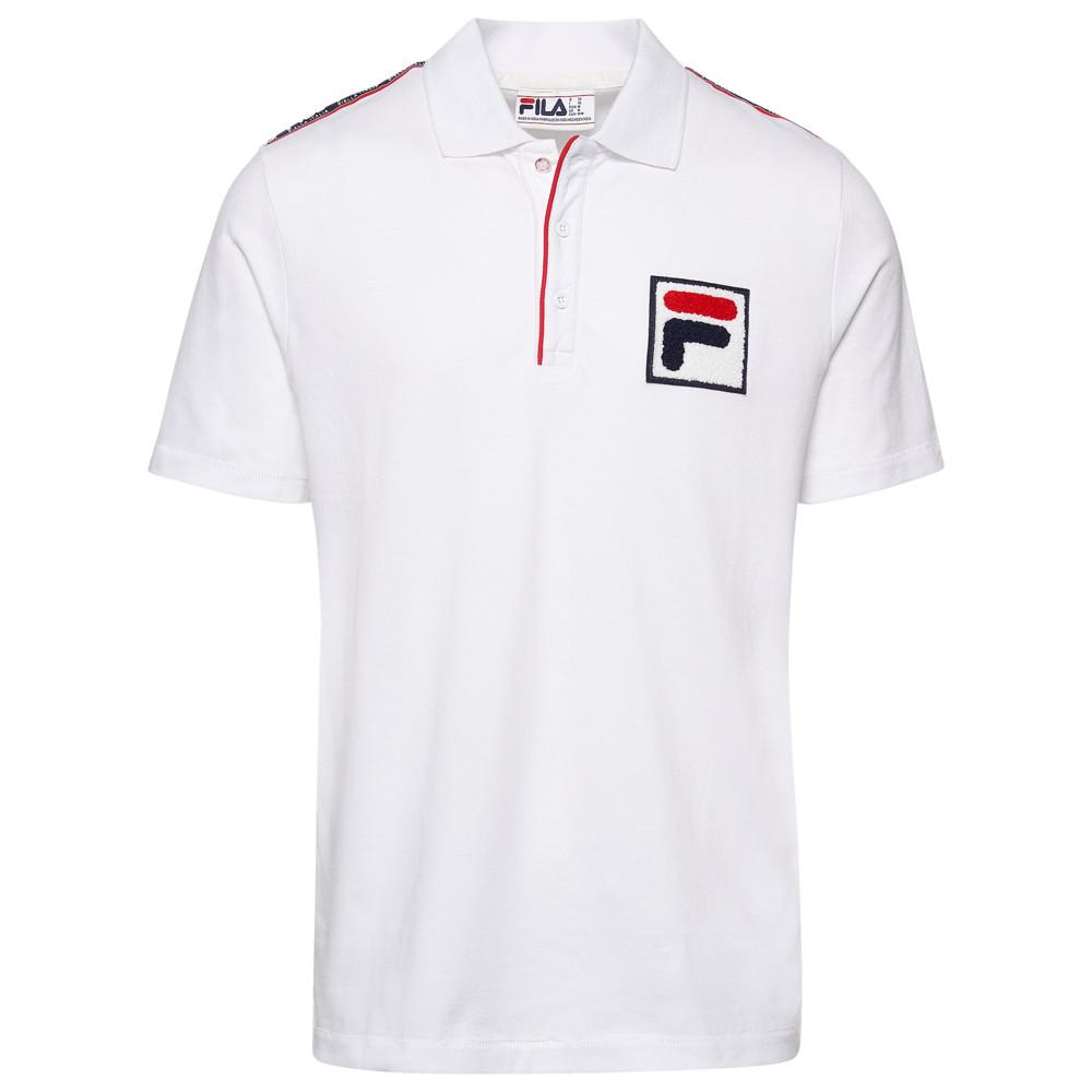 フィラ Fila メンズ ポロシャツ トップス【Biella Italia Polo】White/Navy/Red