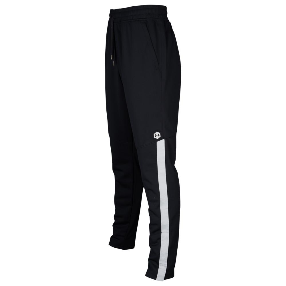 アンダーアーマー Under Armour メンズ フィットネス・トレーニング ボトムス・パンツ【Recover Knit Warm-Up Pants】Black/Metallic Silver