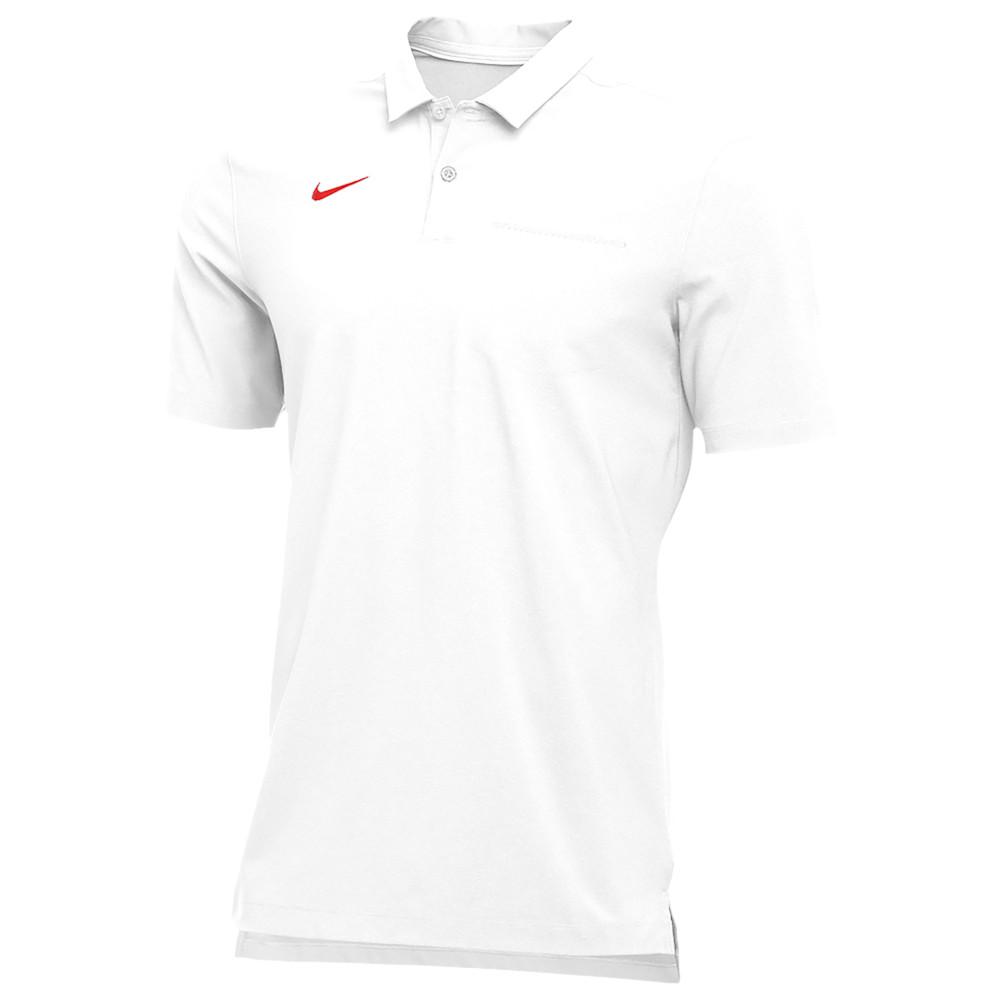 ナイキ Nike メンズ フィットネス・トレーニング トップス【Team Authentic Dry S/S Elite Polo】White/University Red