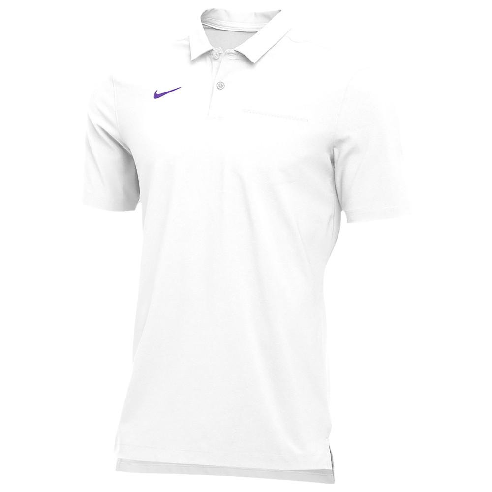 ナイキ Nike メンズ フィットネス・トレーニング トップス【Team Authentic Dry S/S Elite Polo】White/Court Purple