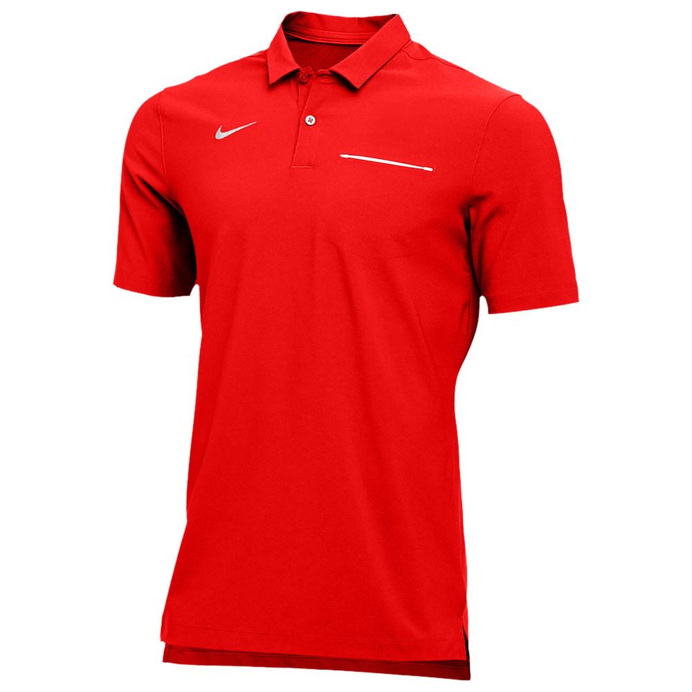 ナイキ Nike メンズ フィットネス・トレーニング トップス【Team Authentic Dry S/S Elite Polo】University Red/White
