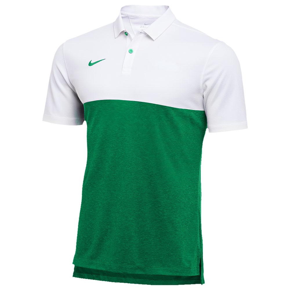 ナイキ Nike メンズ フィットネス・トレーニング トップス【Team Authentic Dry S/S Colorblock Polo】White/Apple Green/Apple Green