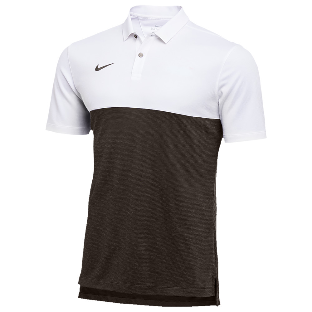ナイキ Nike メンズ フィットネス・トレーニング トップス【Team Authentic Dry S/S Colorblock Polo】White/Dark Cinder/Dark Cinder