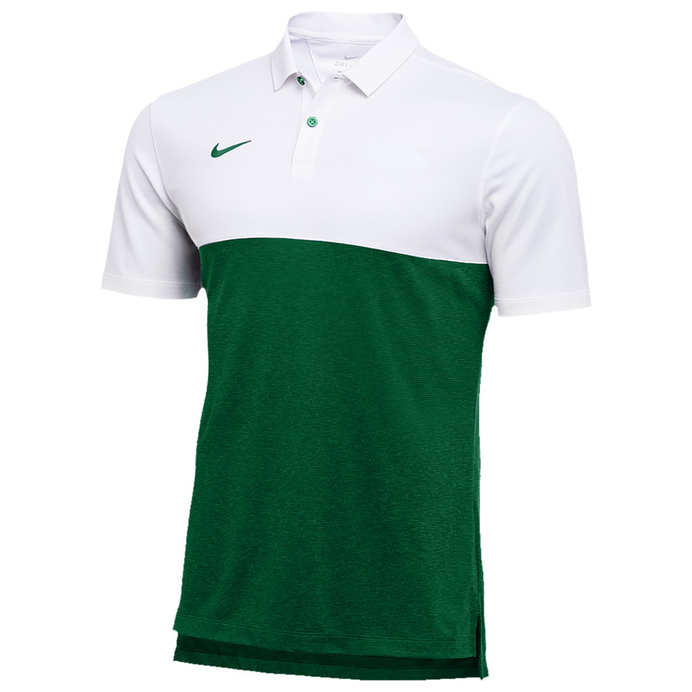 ナイキ Nike メンズ フィットネス・トレーニング トップス【Team Authentic Dry S/S Colorblock Polo】White/Gorge Green/Gorge Green