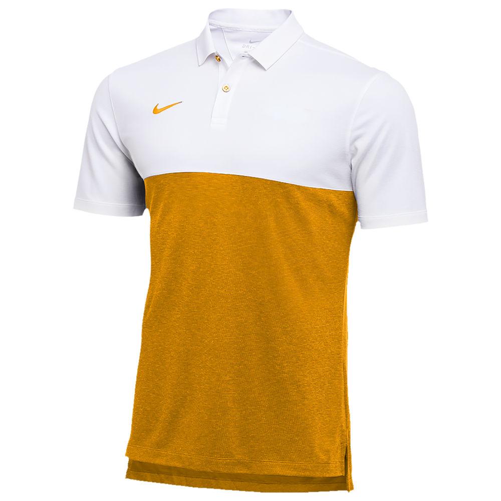 ナイキ Nike メンズ フィットネス・トレーニング トップス【Team Authentic Dry S/S Colorblock Polo】White/Sundown/Sundown