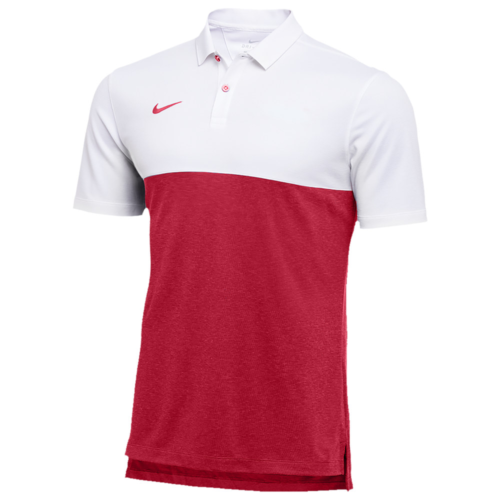 ナイキ Nike メンズ フィットネス・トレーニング トップス【Team Authentic Dry S/S Colorblock Polo】White/Team Crimson/Team Crimson