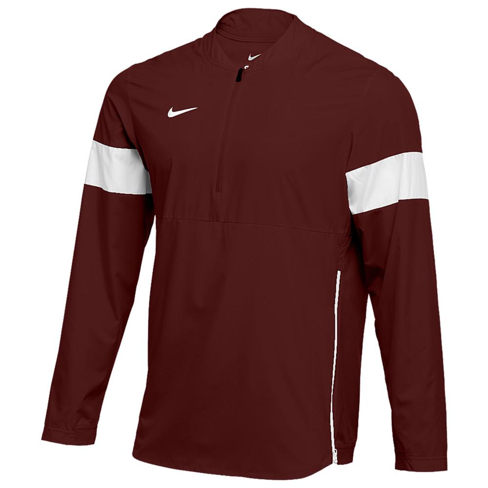 ナイキ Nike メンズ フィットネス・トレーニング コーチジャケット アウター【Team Authentic Lightweight Coaches Jacket】Deep Maroon/White/White