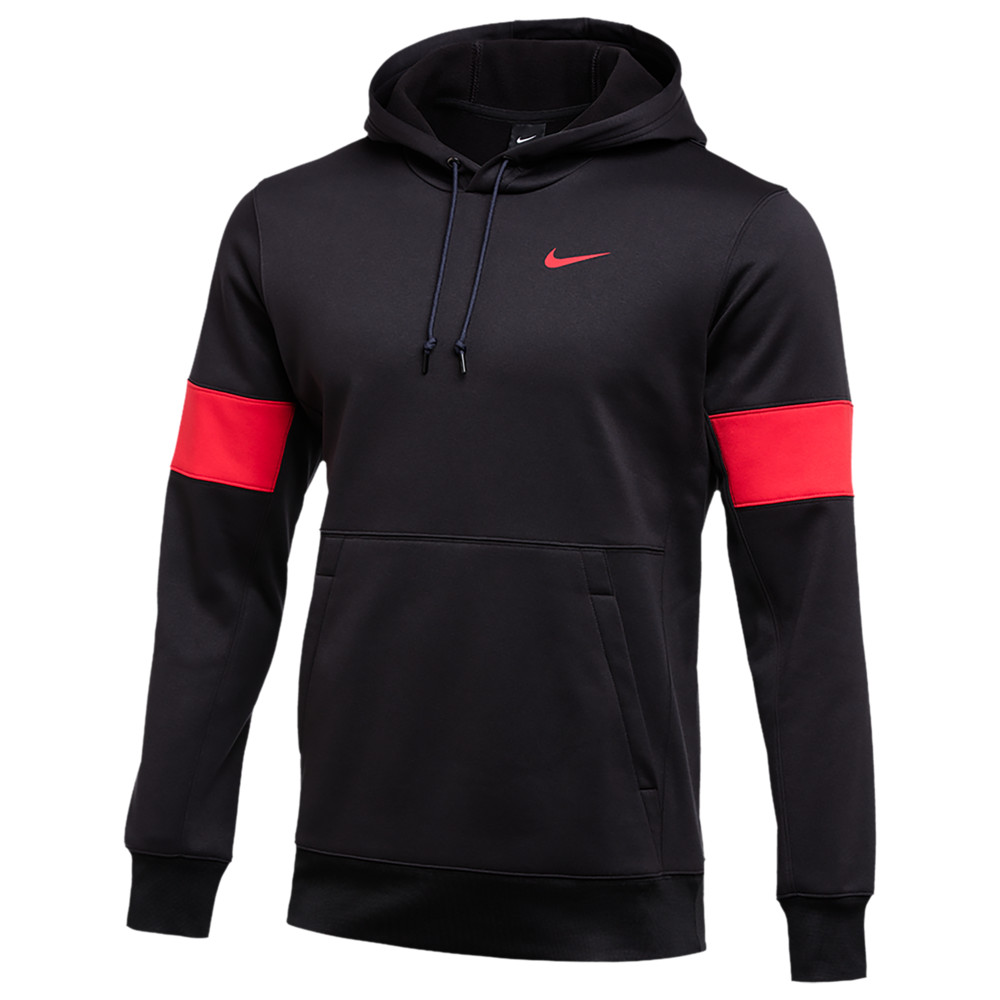 ナイキ Nike メンズ フィットネス・トレーニング パーカー トップス【Team Authentic Therma Pullover Hoodie】Black/University Red/University Red