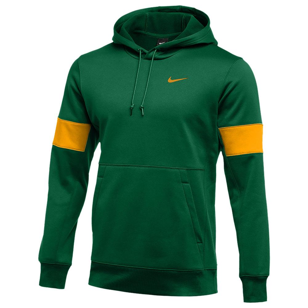 ナイキ Nike メンズ フィットネス・トレーニング パーカー トップス【Team Authentic Therma Pullover Hoodie】Gorge Green/Sundown/Sundown