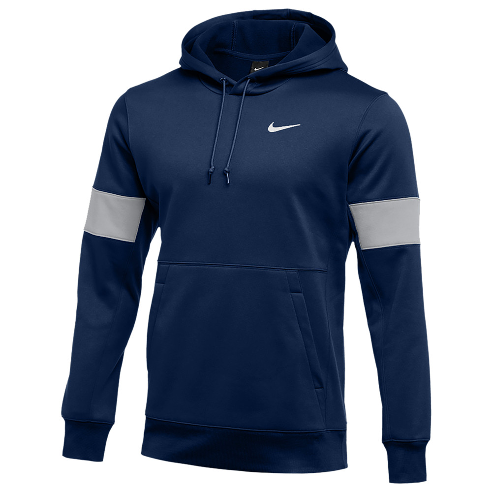 ナイキ Nike メンズ フィットネス・トレーニング パーカー トップス【Team Authentic Therma Pullover Hoodie】College Navy/Flat Silver/White