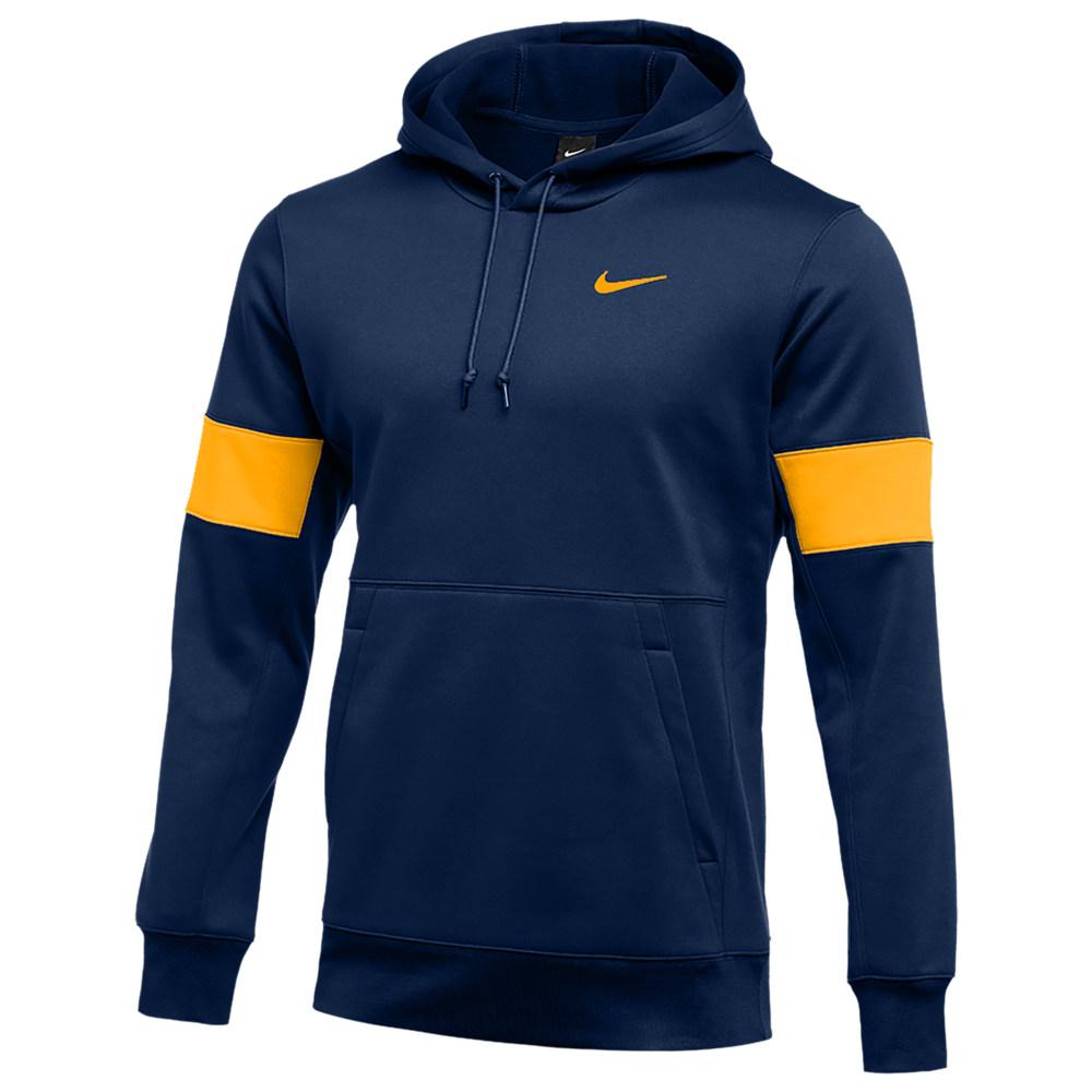 ナイキ Nike メンズ フィットネス・トレーニング パーカー トップス【Team Authentic Therma Pullover Hoodie】College Navy/Sundown/Sundown