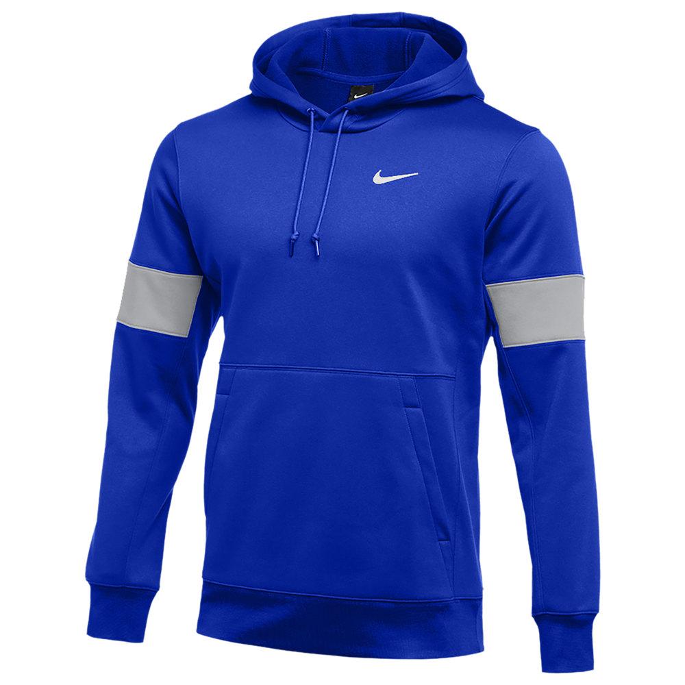 ナイキ Nike メンズ フィットネス・トレーニング パーカー トップス【Team Authentic Therma Pullover Hoodie】Game Royal/Flat Silver/White