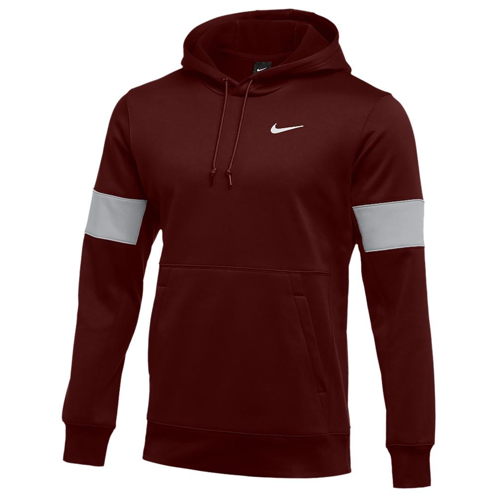 ナイキ Nike メンズ フィットネス・トレーニング パーカー トップス【Team Authentic Therma Pullover Hoodie】Deep Maroon/Flat Silver/White