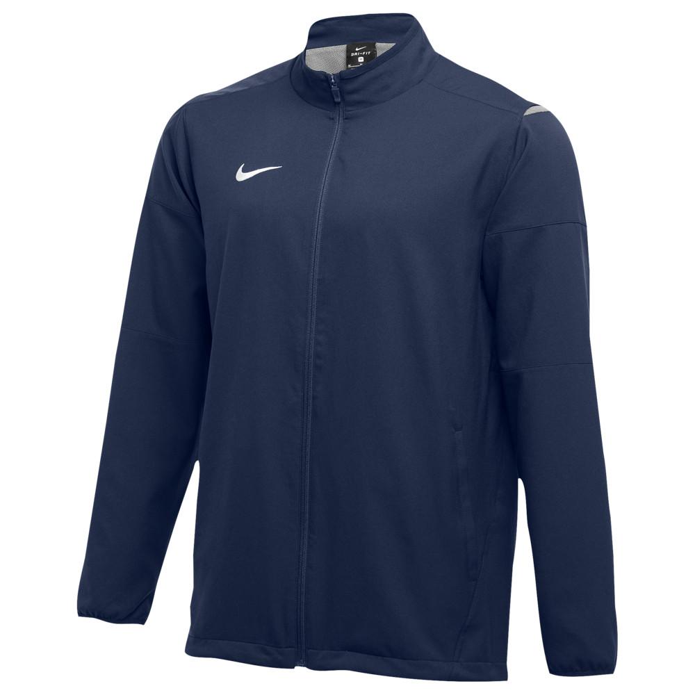 ナイキ Nike メンズ フィットネス・トレーニング ジャケット アウター【Team Dry Jacket】Navy/White