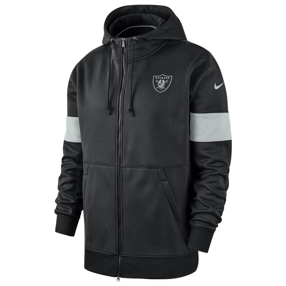 ナイキ Nike メンズ アメリカンフットボール トップス【NFL Therma Full-Zip Hoodie】NFL Oakland Raiders Black