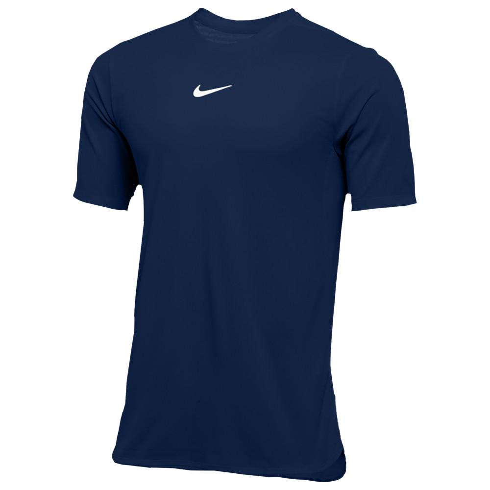 ナイキ Nike メンズ フィットネス・トレーニング トップス【Team Authentic Dry S/S Top】College Navy/White
