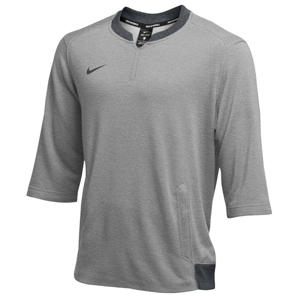 ナイキ Nike メンズ フィットネス・トレーニング トップス【Team 3/4 Flux Crew】Grey Heather/Black Heather