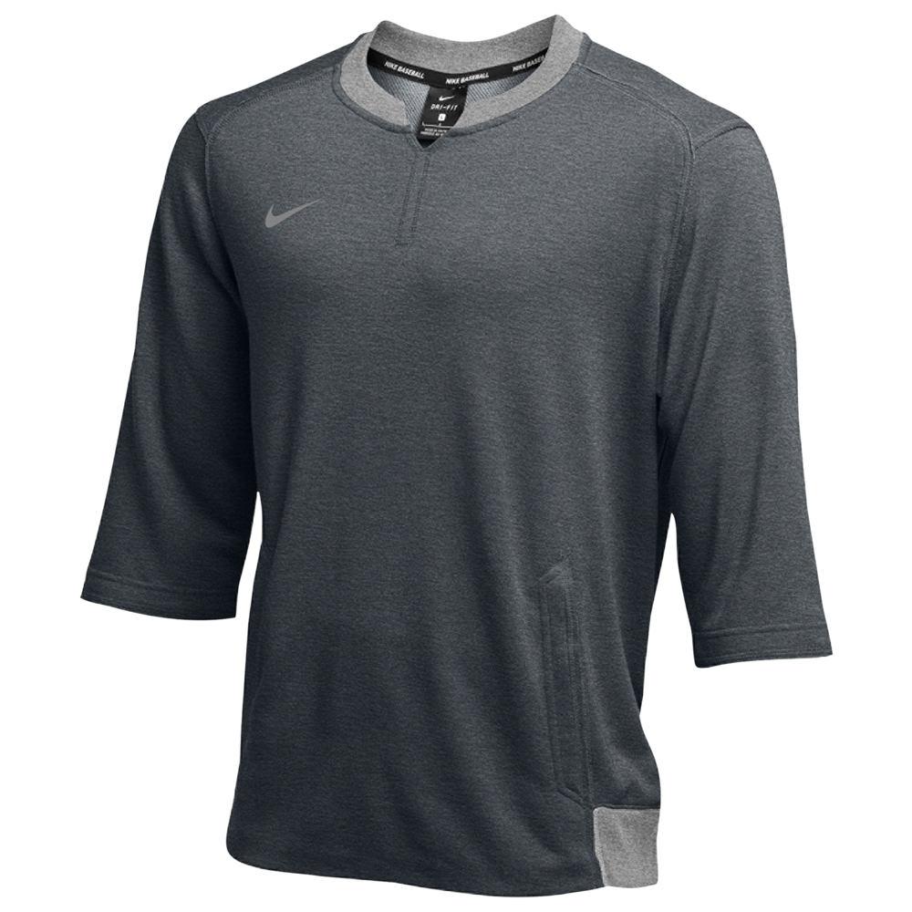 ナイキ Nike メンズ フィットネス・トレーニング トップス【Team 3/4 Flux Crew】Dark Grey Heather/Charcoal Heather
