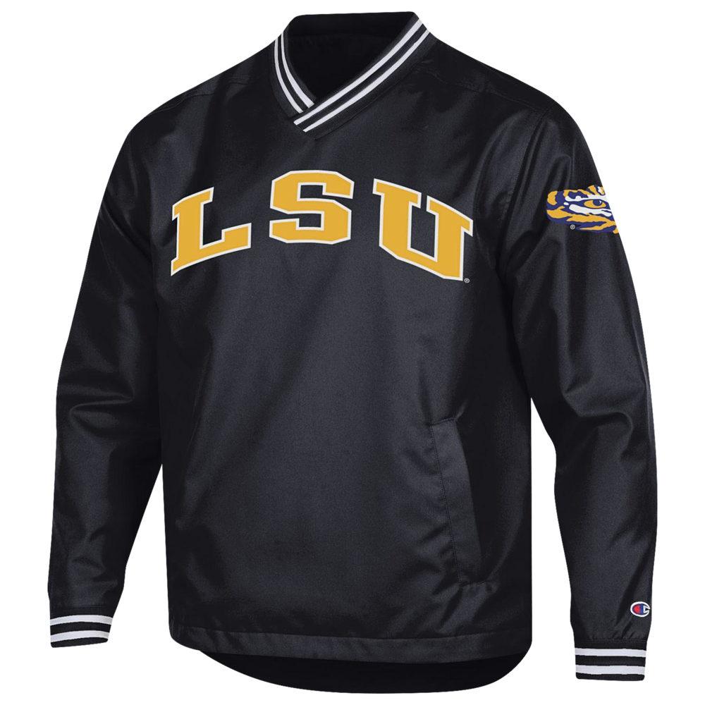 チャンピオン Champion メンズ ジャケット アウター【College Scout Pullover Jacket】NCAA LSU Tigers Purple/Gold