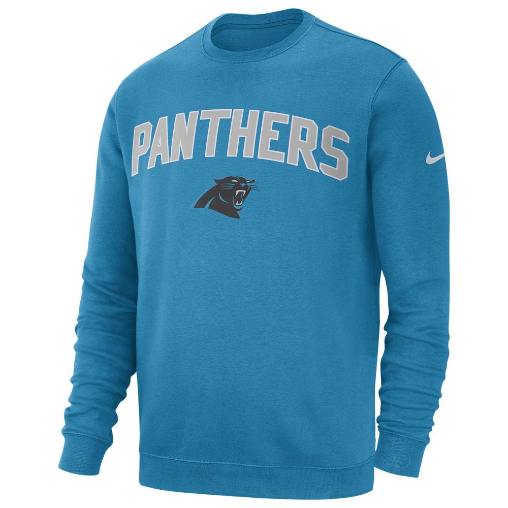 ナイキ Nike メンズ フリース トップス【NFL Club Fleece Crew Pullover】NFL Carolina Panthers Tidal Blue