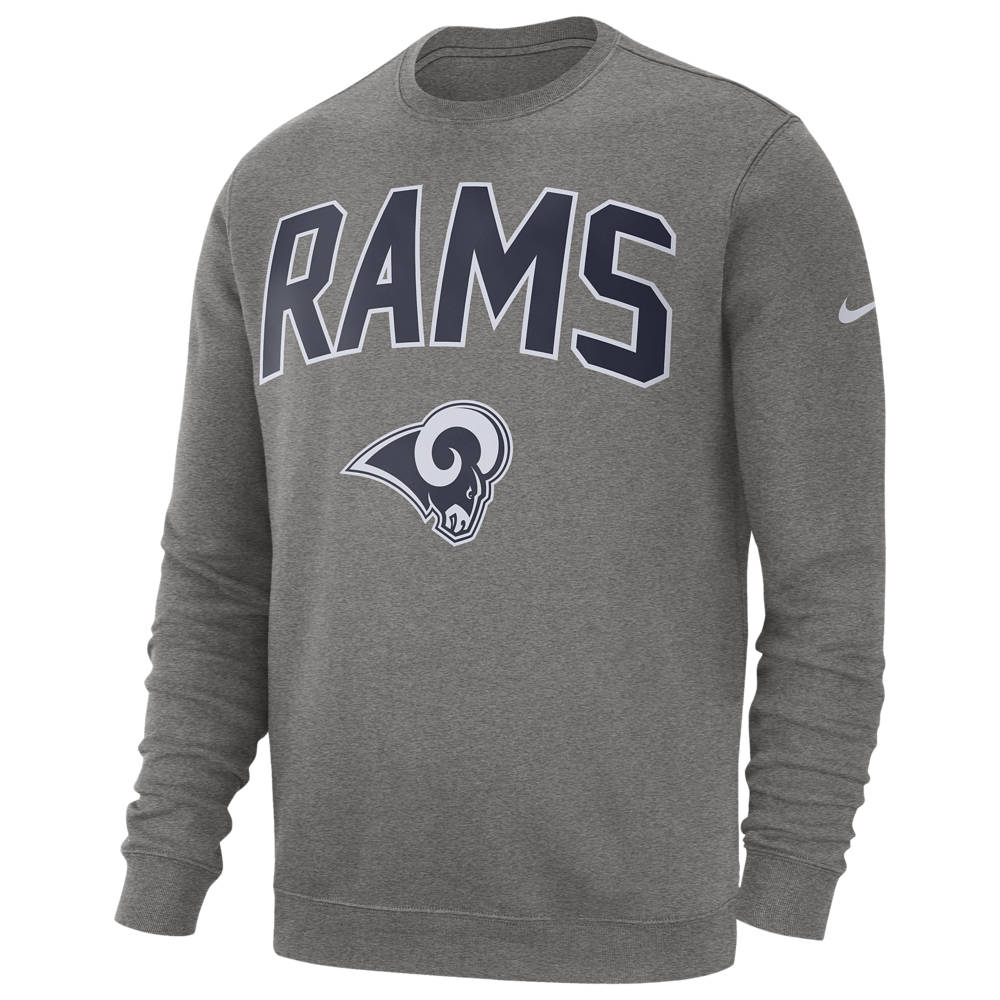 ナイキ Nike メンズ フリース トップス【NFL Club Fleece Crew Pullover】NFL Los Angeles Rams Dark Grey Heather
