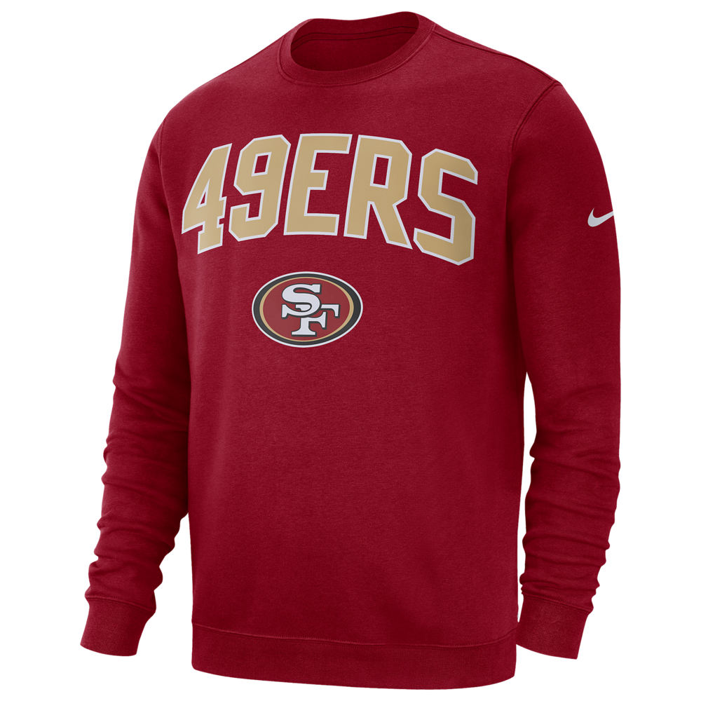 ナイキ Nike メンズ フリース トップス【NFL Club Fleece Crew Pullover】NFL San Francisco ers Gym Red