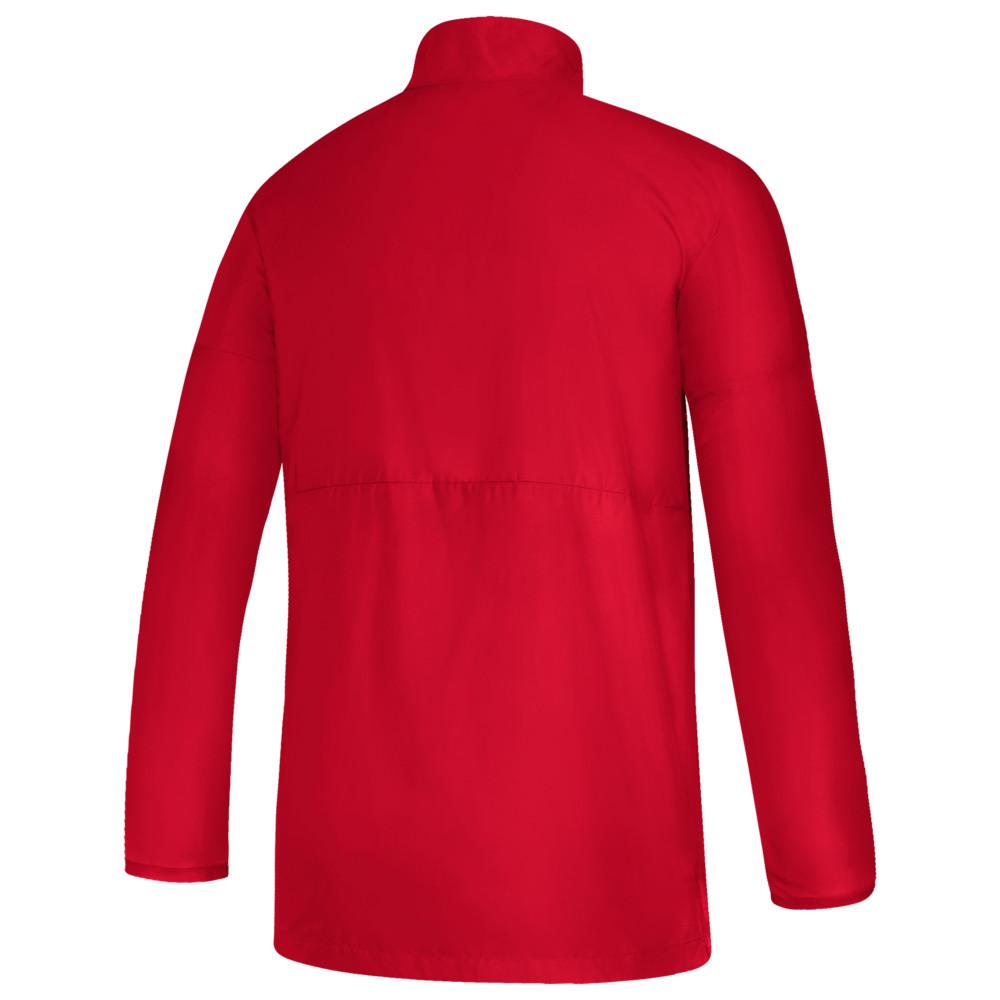 アディダス adidas メンズ フィットネス・トレーニング ジャケット アウター【Team Game Mode L/S 1/4 Zip Jacket】Power Red/White