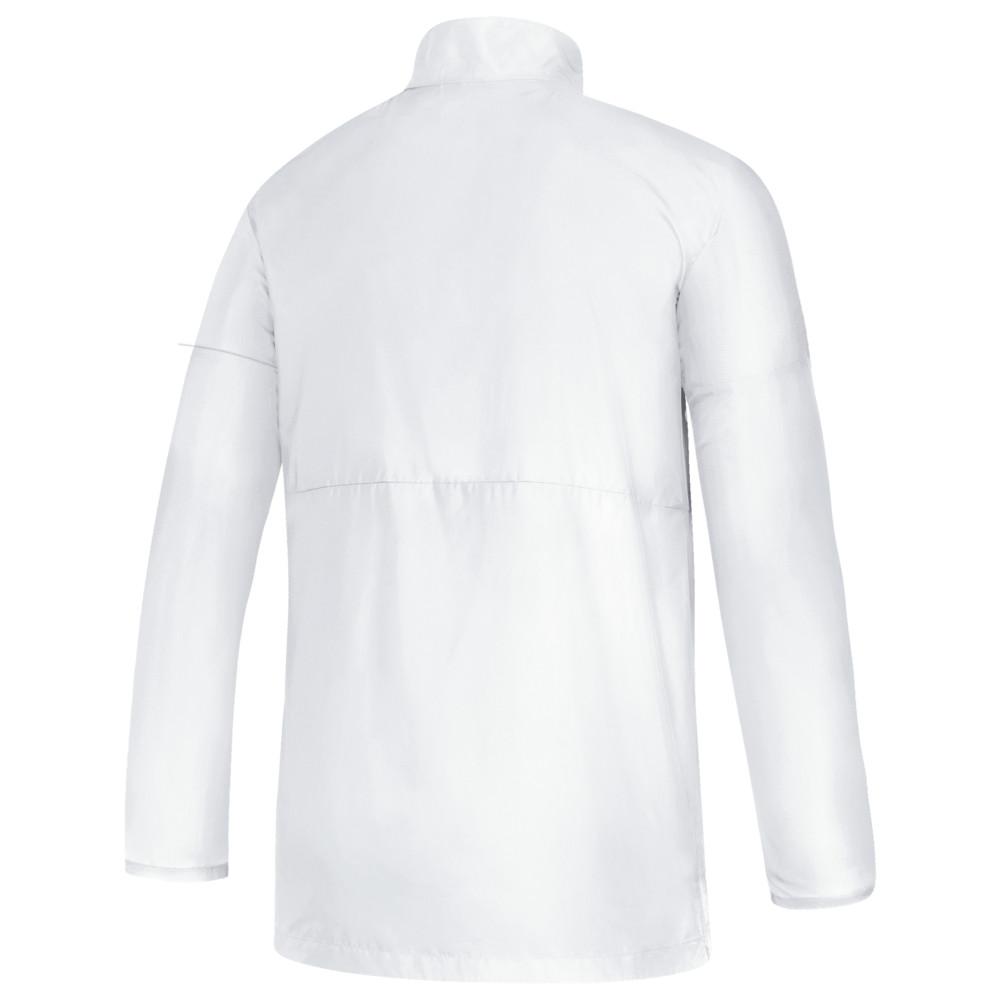 アディダス adidas メンズ フィットネス・トレーニング ジャケット アウター【Team Game Mode L/S 1/4 Zip Jacket】White/Grey Five