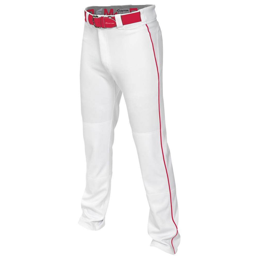 イーストン Easton メンズ 野球 ボトムス・パンツ【Mako 2 Piped Baseball Pants】White/Red