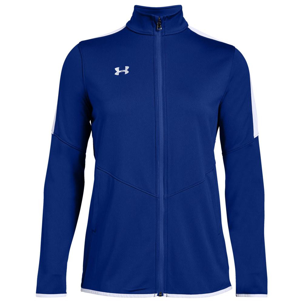 アンダーアーマー Under Armour Team レディース フィットネス・トレーニング ジャケット アウター【Team Rival Knit Warm-Up Jacket】Royal/White