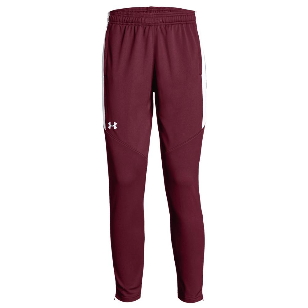 アンダーアーマー Under Armour Team レディース フィットネス・トレーニング ボトムス・パンツ【Team Rival Knit Warm-Up Pants】Cardinal/White