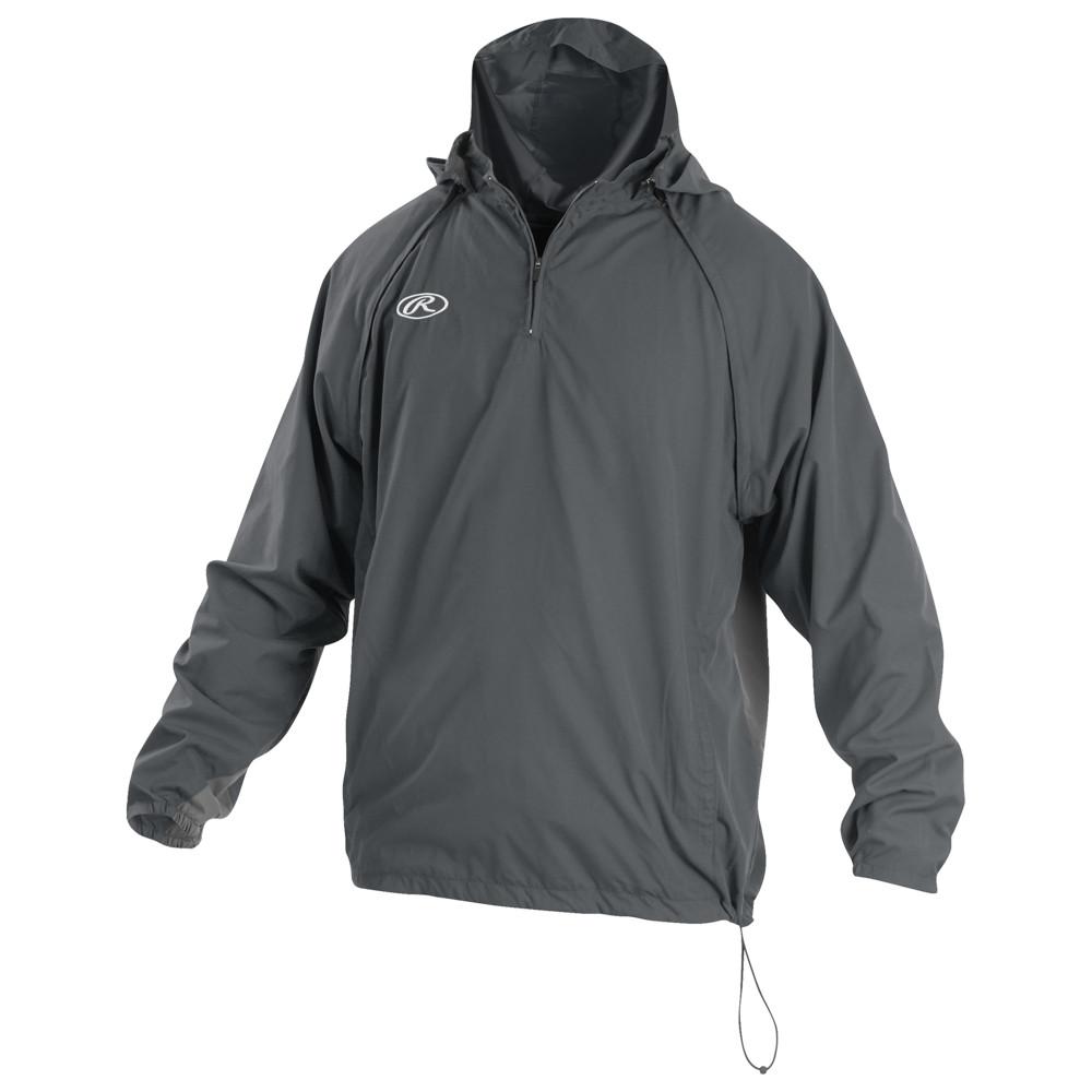 ローリングス Rawlings メンズ 野球 ジャケット アウター【Triple Threat Pullover Jacket】Grey