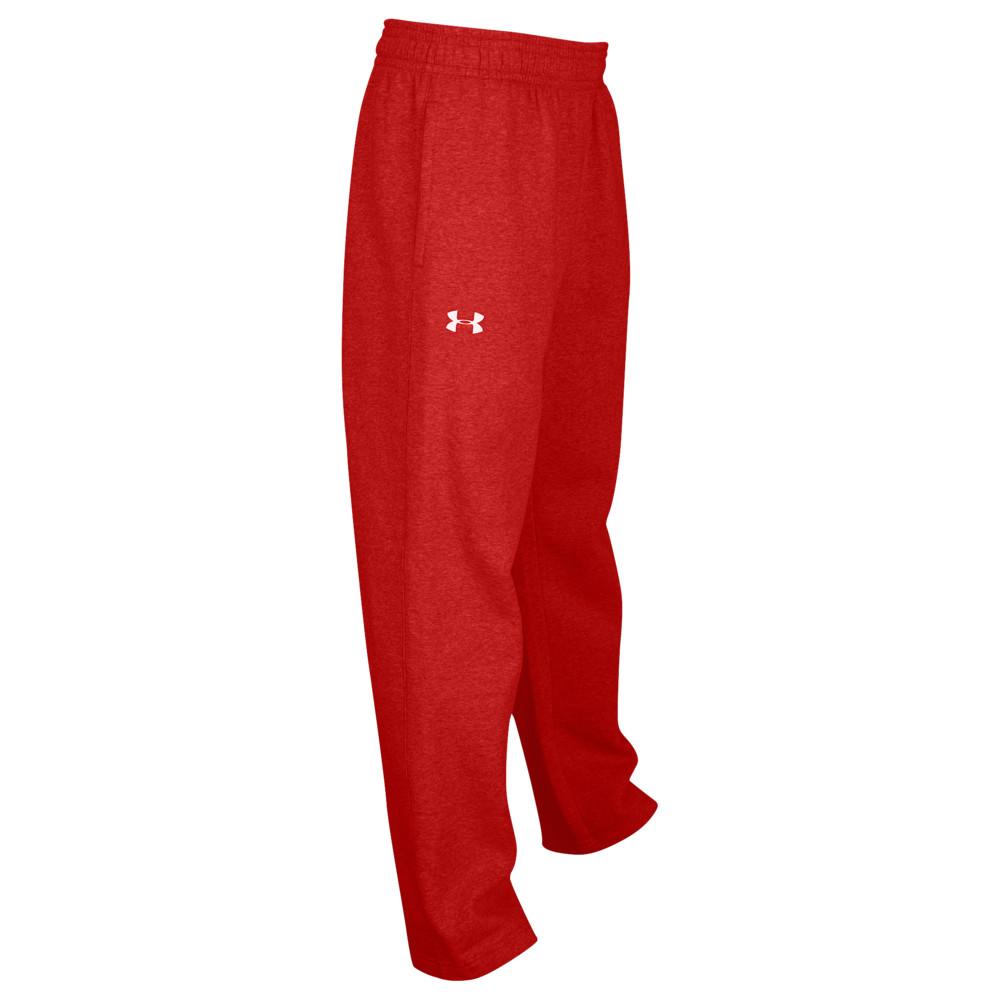 アンダーアーマー Under Armour メンズ フィットネス・トレーニング ボトムス・パンツ【Team Hustle Fleece Pants】Red/White