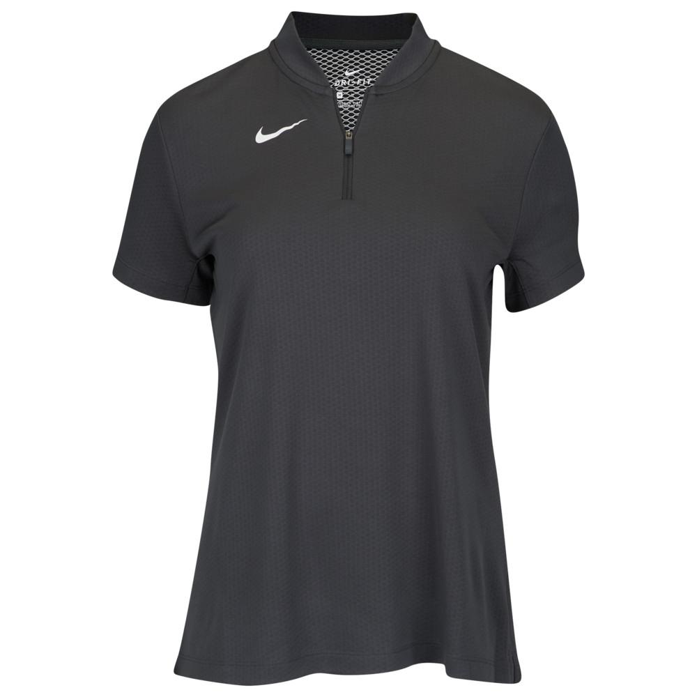 ナイキ Nike レディース フィットネス・トレーニング トップス【Team Authentic Dry Blade S/S Polo】Anthracite/White
