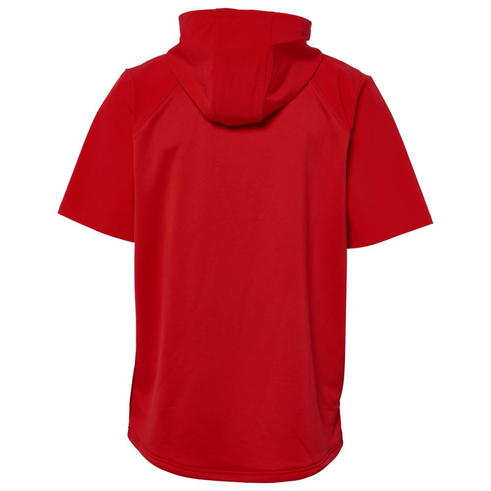 アンダーアーマー Under Armour Team メンズ フィットネス・トレーニング ジャケット アウター【Team Evo S/S Cage Jacket】Red/White
