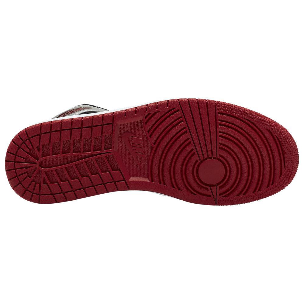 ナイキ ジョーダン Jordan メンズ バスケットボール シューズ・靴【AJ 1 Mid】Black/Gym Red/Metallic Silver/White