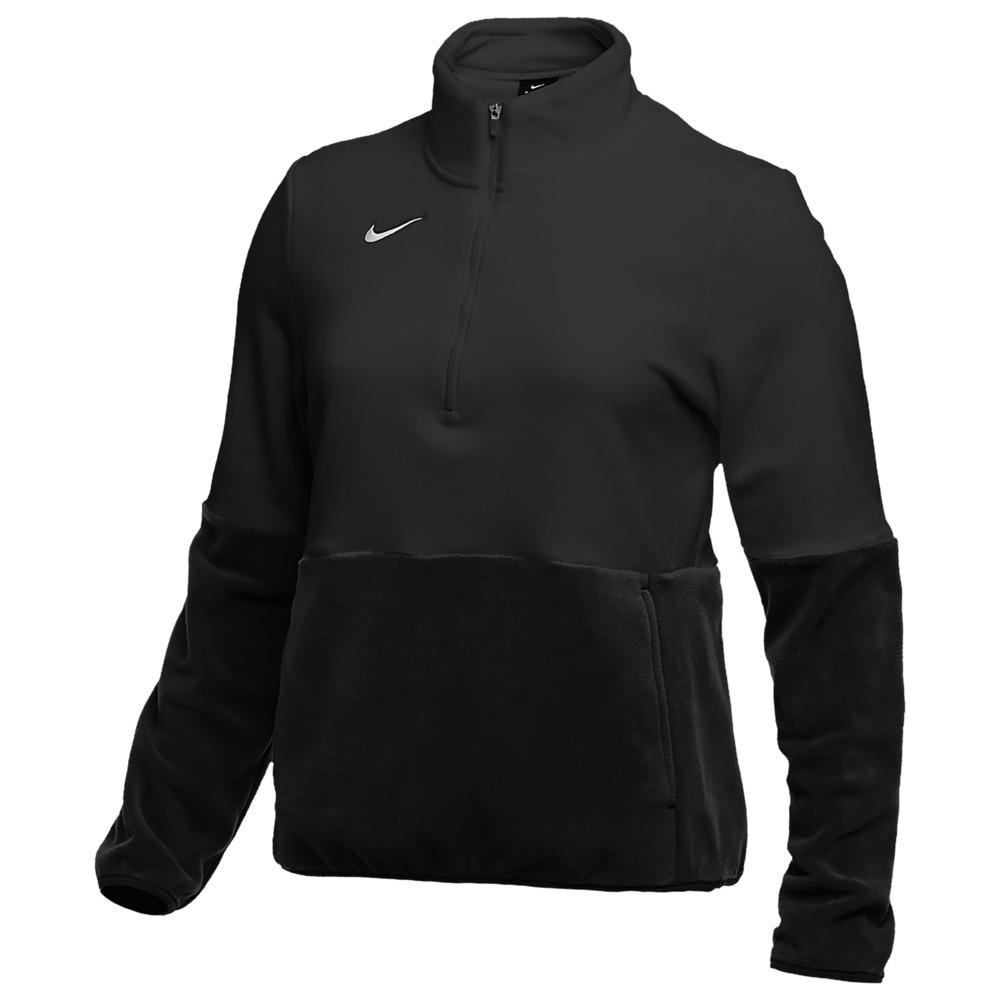 ナイキ Nike レディース フィットネス・トレーニング ハーフジップ トップス【Team Authentic Fleece 1/2 Zip Top】Black/White