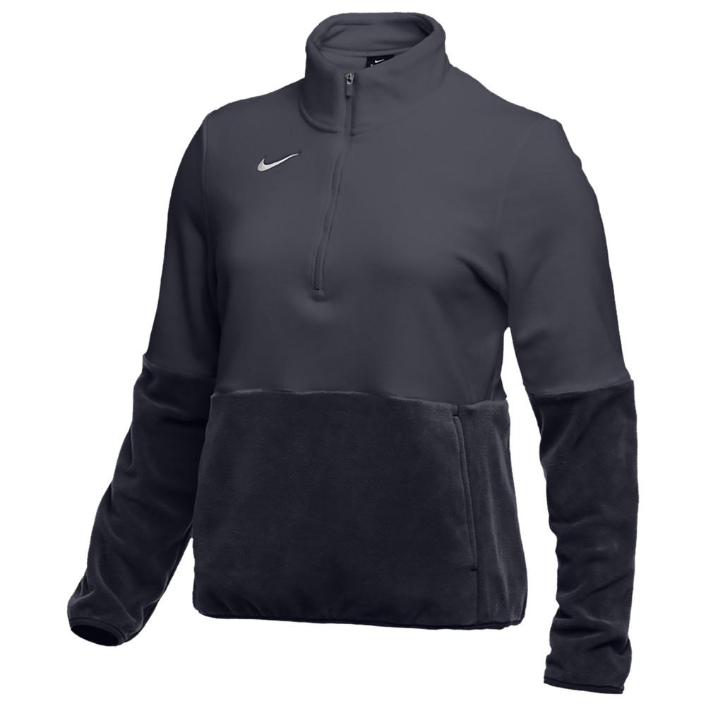 ナイキ Nike レディース フィットネス・トレーニング ハーフジップ トップス【Team Authentic Fleece 1/2 Zip Top】Anthracite/White