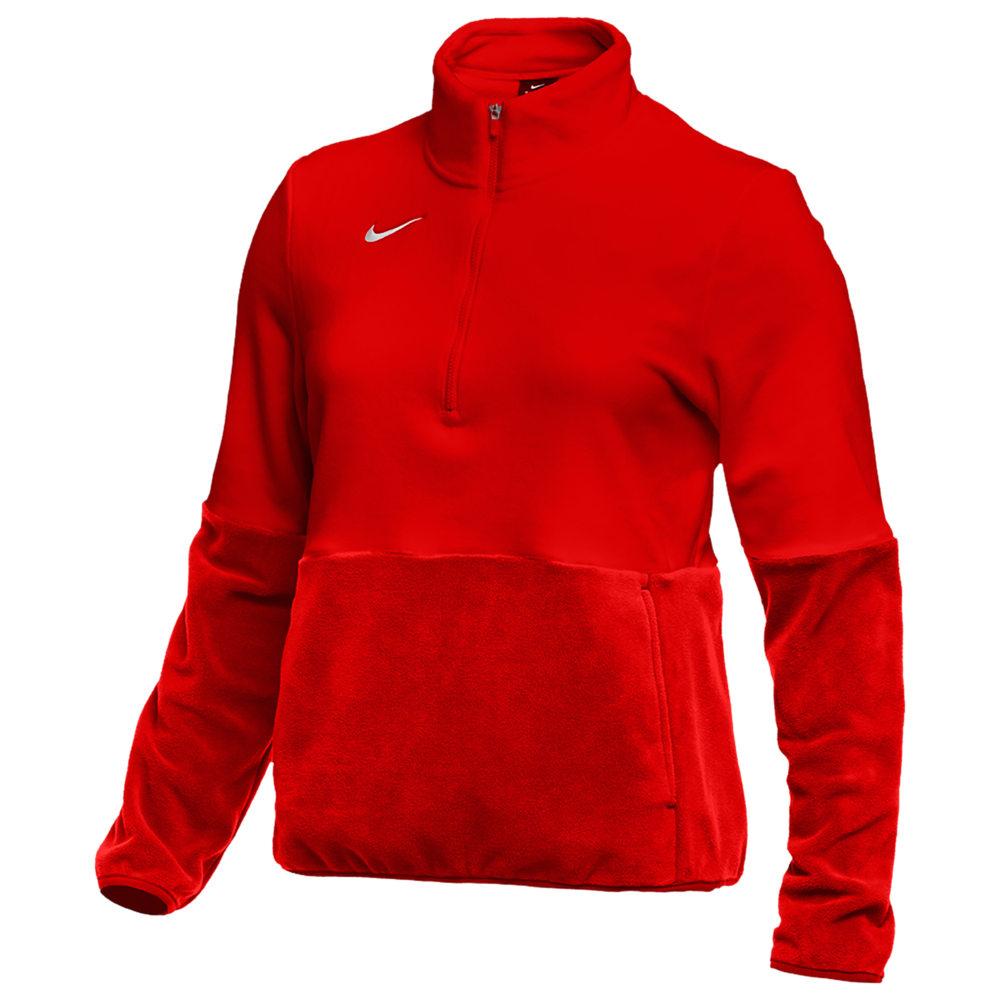 ナイキ Nike レディース フィットネス・トレーニング ハーフジップ トップス【Team Authentic Fleece 1/2 Zip Top】University Red/White
